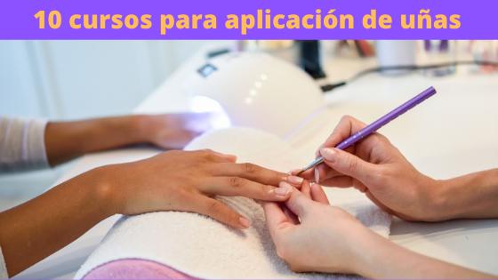 10 cursos para aplicación de uñas