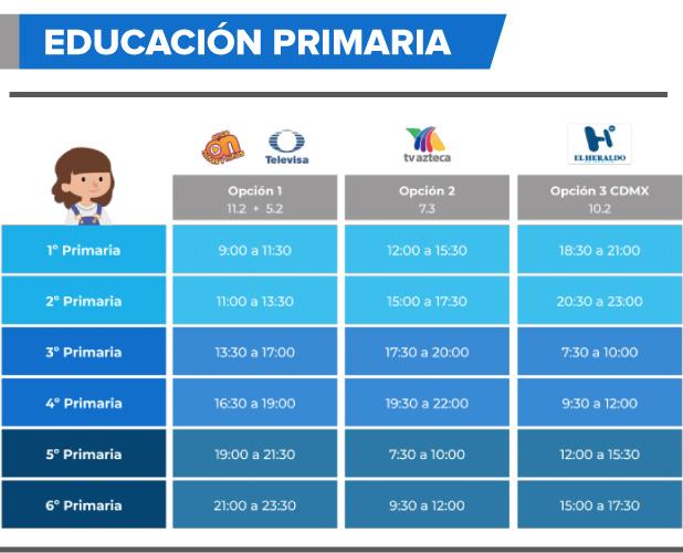 horario primaria